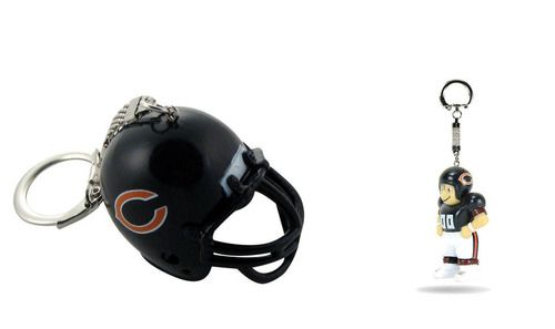 Chicago Bears Helmet and LIL' SPORTS BRAT Keychain