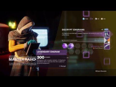 Destiny 2 legendary and exotic engram opening - YouTube