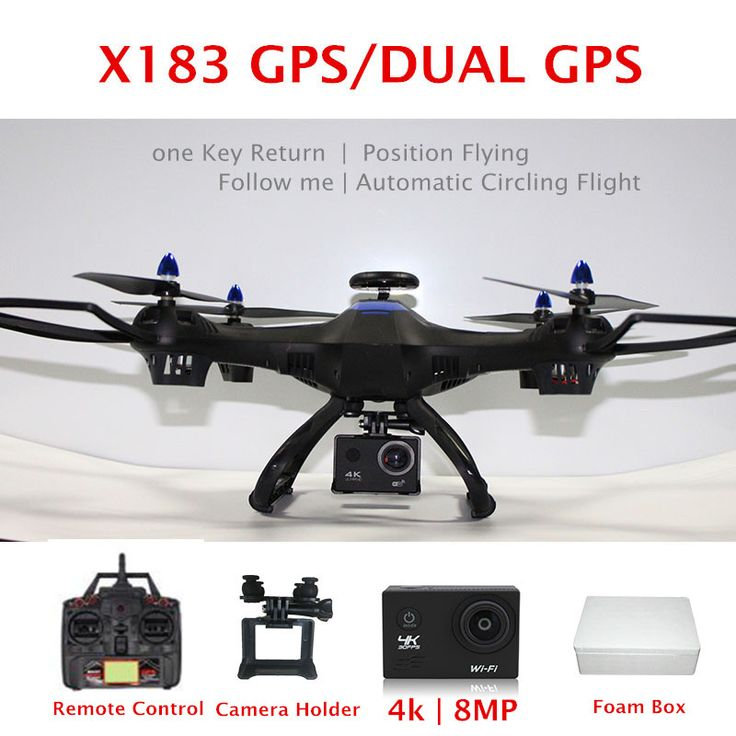 Global Drone X183 Dual GPS RC Drone Quadrocopter with Camera FPV Wifi 4K 8MP VS aosenma cg035 GPS Quadcopter rc helicopter //Price: $160.52 & FREE Shipping //      #aerial #phantom #gopro #tech #uk #aerialphotography