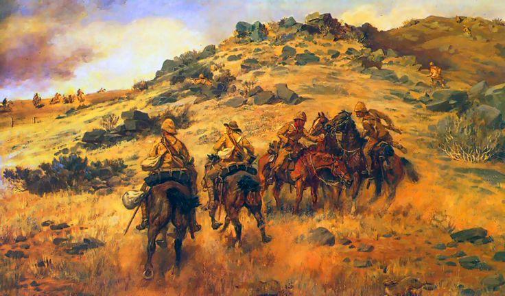 Race for the Copje ,Boer War - by G Douglas Giles