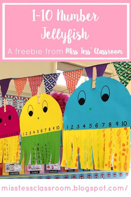 Jellyfish Number! Consolidate numbers 1-10 with this super cute craft!