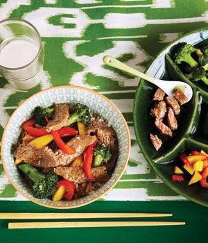 Curried Beef with Broccoli & Mango Stir-Fry
