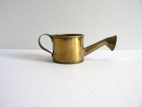 Mini Solid Brass Watering Can  Made in India  by myTreasureNook