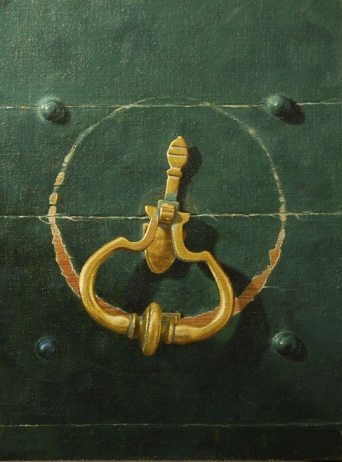Brass Door Knocker painting