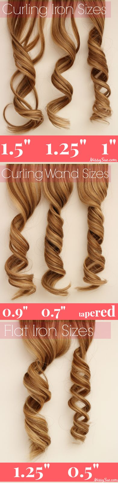 Perfect pageant curls start with your iron. Pin this to know for sure which iron you should pack. http://thepageantplanet.com/category/hair-and-makeup/