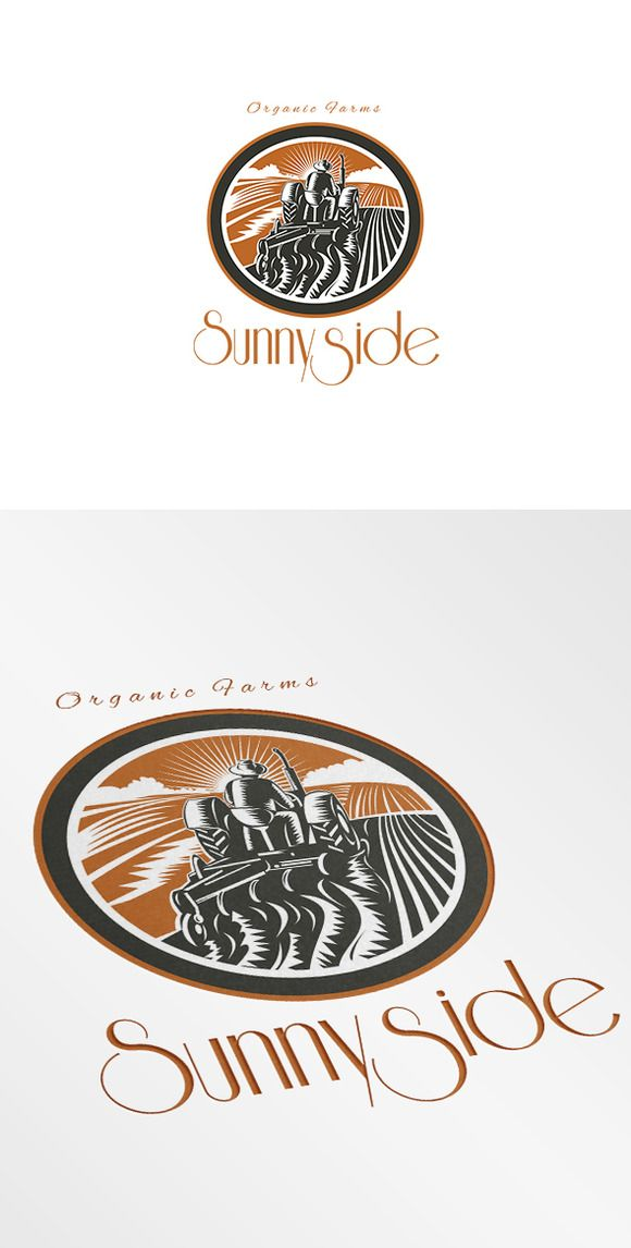 Sunnyside Organic Farms Logo by patrimonio on Creative Market