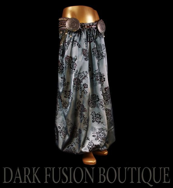 Pants Pantaloons Bloomers ONE OF A KIND Gray by darkfusionboutique
