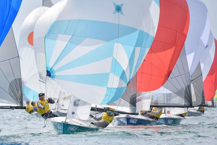 The opening day of the SAP 505 Worlds at Weymouth fully tested the fleet of 140 boats in light airs. The two hour delay to allow the wind to build to the minimum 6kts required to start had clearly allowed some competitors to develop excess adrenalin.