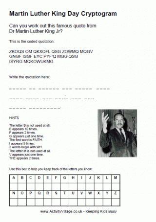 MLK Day Cryptogram