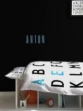 Design Letters sengetøj junior- turkis