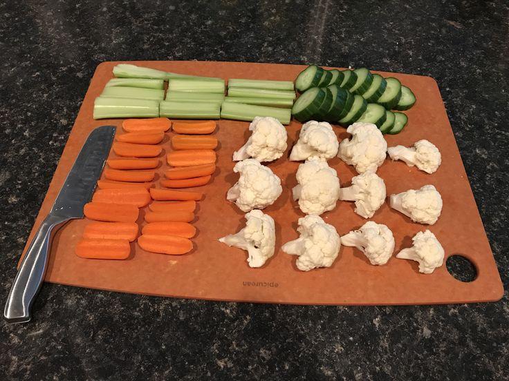 Nothing like fresh cut veggies. #eatyourvegetables