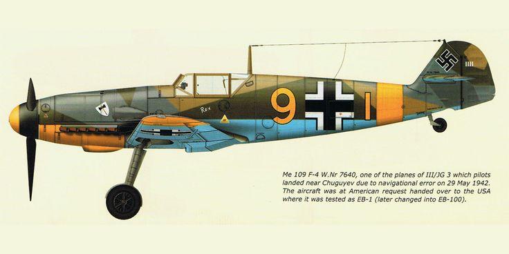 Messerschmitt Bf 109F4 9.JG3 (Y9+I) WNr 7640 captured at Chuguyev Soviet Russia 0A