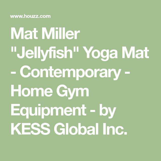 "Mat Miller ""Jellyfish"" Yoga Mat - Contemporary - Home Gym Equipment - by KESS Global Inc. #HomeGyms"