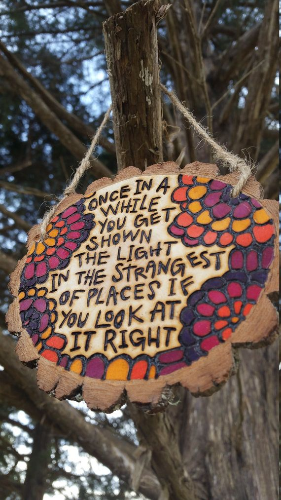 Wooden wall hanger with scarlett begonias lyrics once by Bhenya