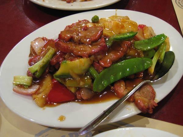 Chifa peruano  Chancho con verduras