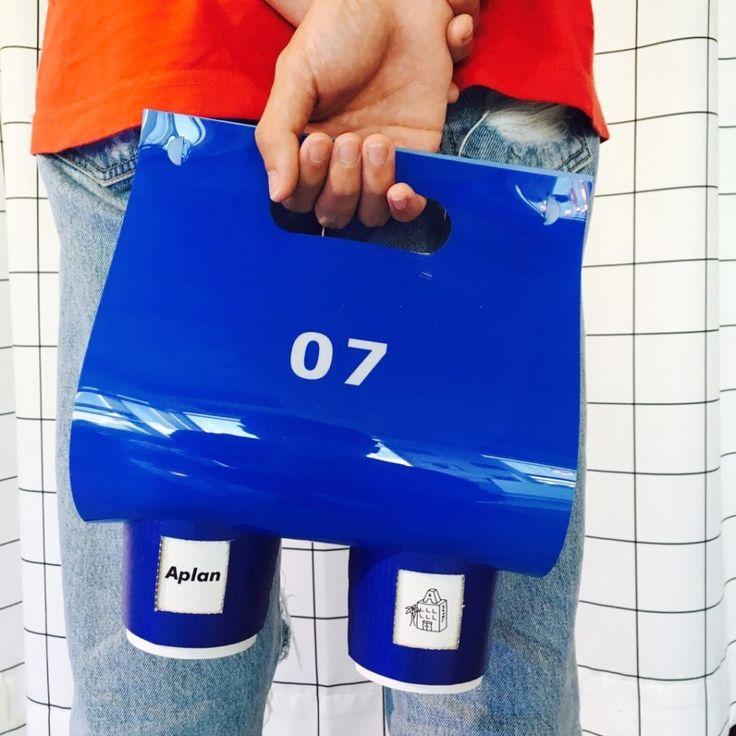 ADER Socks Package. 'A plan'. Four side design. Couple socks. White&Blue.