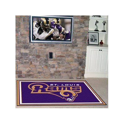 FANMATS NFL - Los Angeles Rams 4x6 Rug Rug Size: 5' x 8'