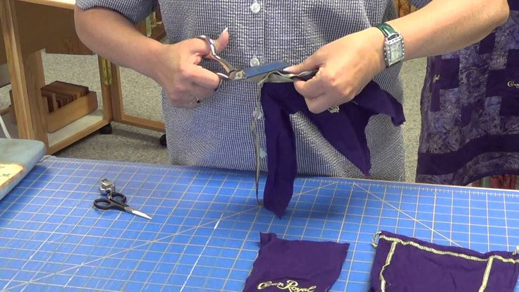 How to prep your Crown Royal bags for a quilt.