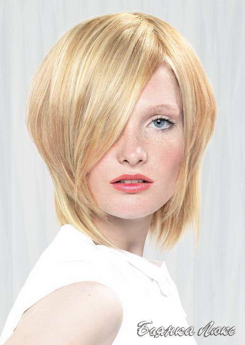 Стрижки и прически для тонких волос 043