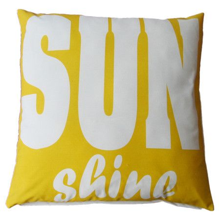 Add an eye-catching pop of style to your patio chaise or mudroom bench with this charming indoor/outdoor pillow, showcasing a typographic motif in yellow and...