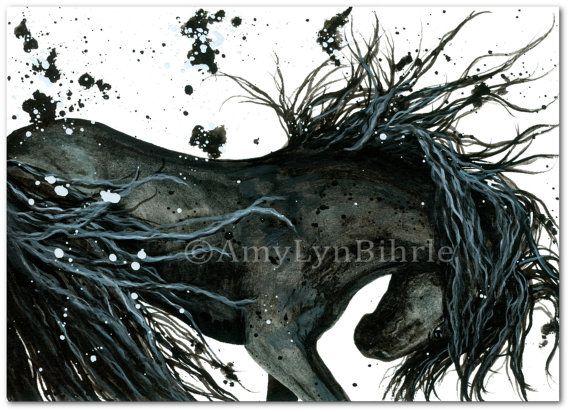 Majestic Horse  DreamWalker Friesian ArT Prints or by AmyLynBihrle, $8.99