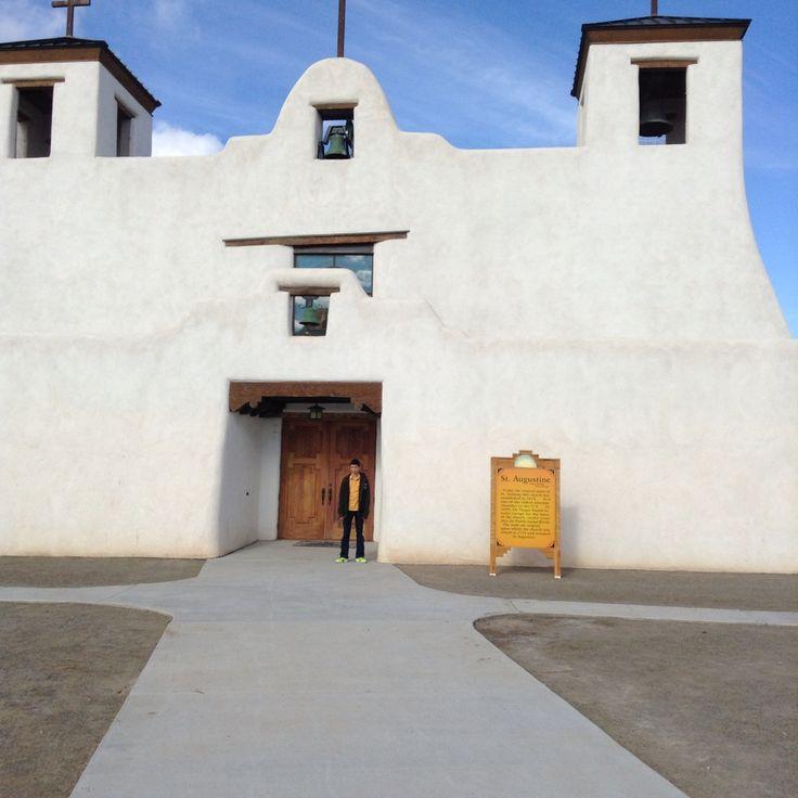 At Augustine church, Isleta Pueblo New Mexico