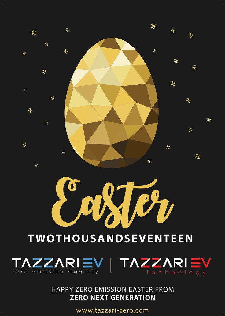 Happy Easter! #Tazzari #EV #zeroemission #electricvehicles #zero #ZZ #happyeaster #easter