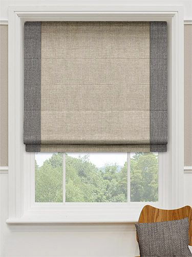 The two neutral colours are a fabulous combination, keeping your home looking light and natural with a trendy modern edge. All in all an elegant and urbane way to decorate your window. #bordered #roman #blinds