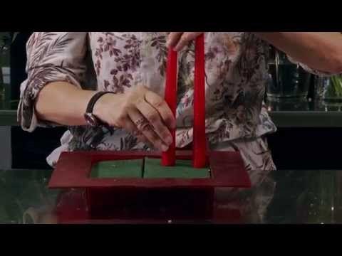 Trabajo floral Navidad en Rojo - YouTube