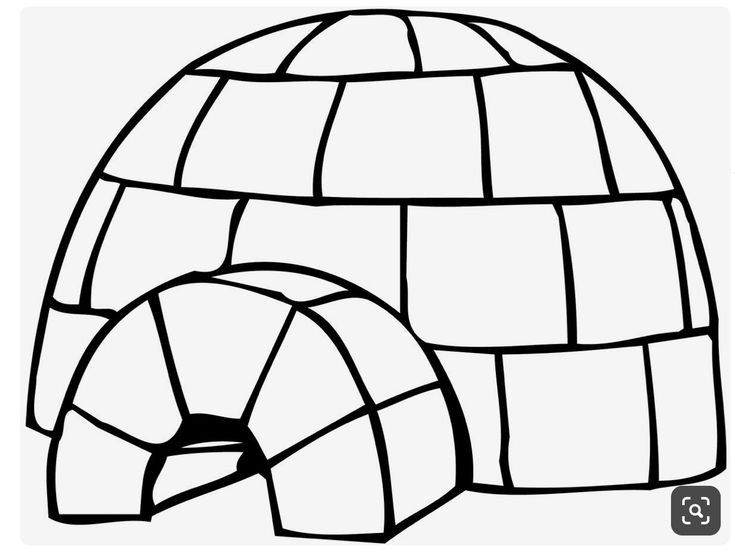 Epingle Par Anna Sur Crafts For Girls Igloo Artisanat Creations D Automne Coloriage Igloo