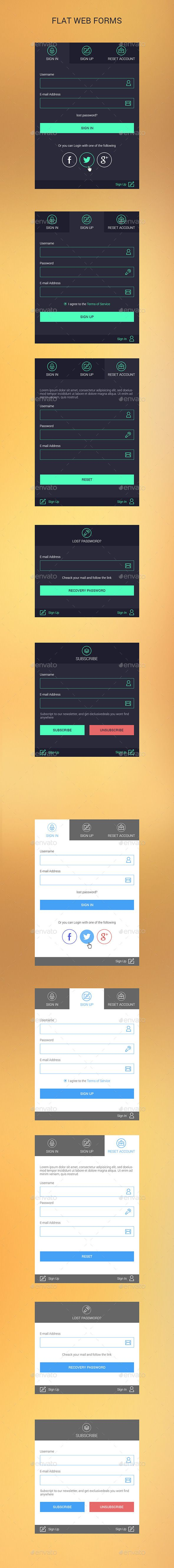 Flat Web Forms #design Download: http://graphicriver.net/item/flat-web-forms/12618461?ref=ksioks