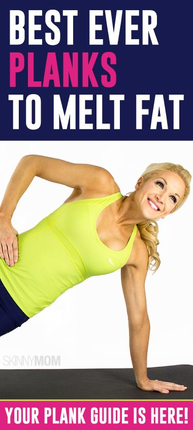 Melt the fat and tone up with planks.