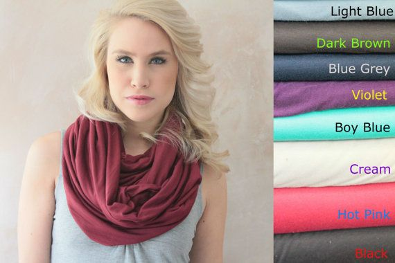 Infinity scarf  Circle scarf Eternity scarf Jersey by DreamingDays, $19.00