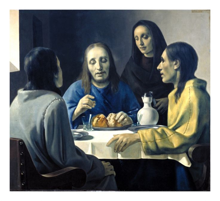 Han van Meegeren (1889–1947), Supper at Emmaus, 1937 ...