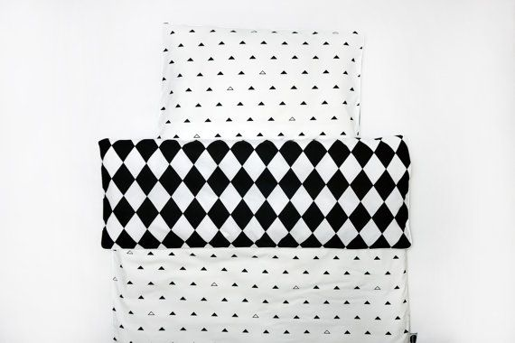 Cotton duvet cover.Monochrome style. Scandinavian design. Modern inspiration.