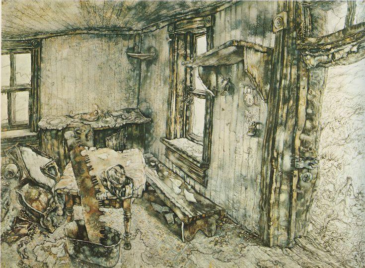 The MacNeil Place (1964) watercolour Eric Freifeld