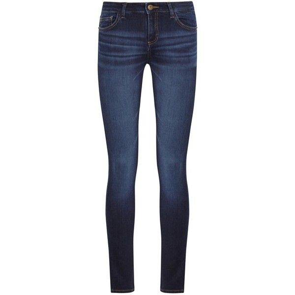 Womens Skinny Jeans DL1961 Florence Dark Blue Skinny Jeans ($250) ❤ liked on Polyvore featuring jeans, pants, dl1961 premium denim, mid-rise jeans, skinny fit jeans, mid rise skinny jeans and button-fly jeans