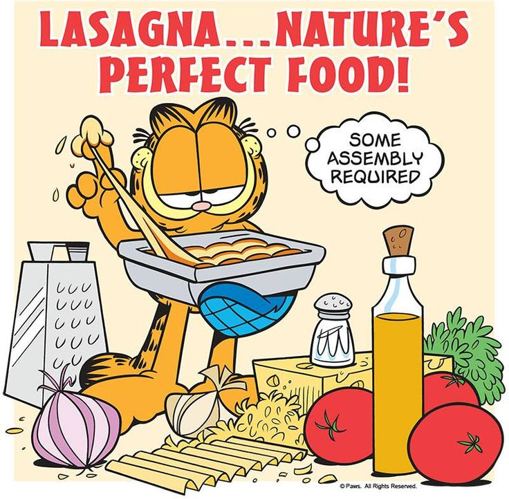 It's National Lasagna Day! Make a batch! Recipe here: https://garfield.com/lasagna