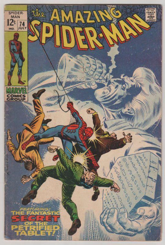 Amazing Spider-Man; Vol 1, 74 Silver Age Comic Book. VG/FN Jul 1969. Marvel Comics  #amazing spider-man #spider-man #harry osborn #silver age comics #stan lee #john romita senior