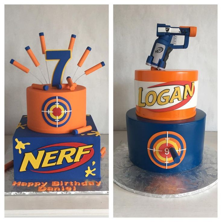 Excellent Nerf Gun Cake Recipe Personalised Birthday Cards Veneteletsinfo