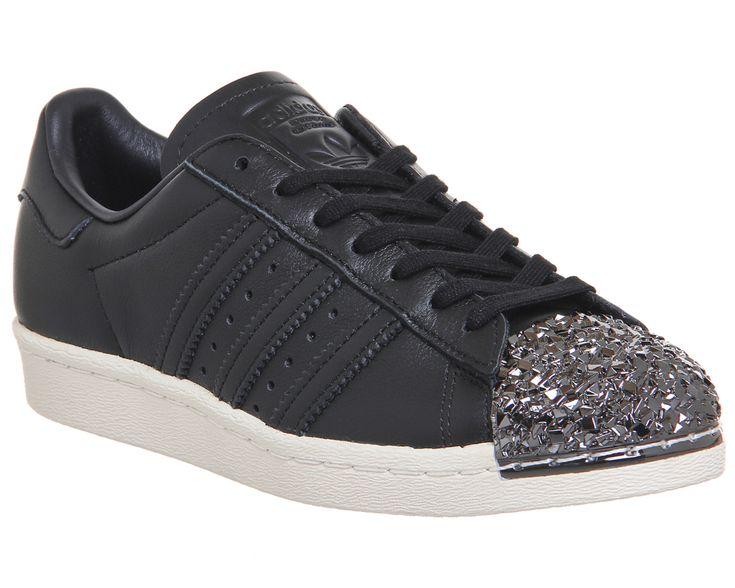 Adidas Superstar 80's Metal Toe Black Shattered Mirror 3d