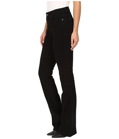 7 For All Mankind Kimmie Bootcut in Washed Overdyed Black