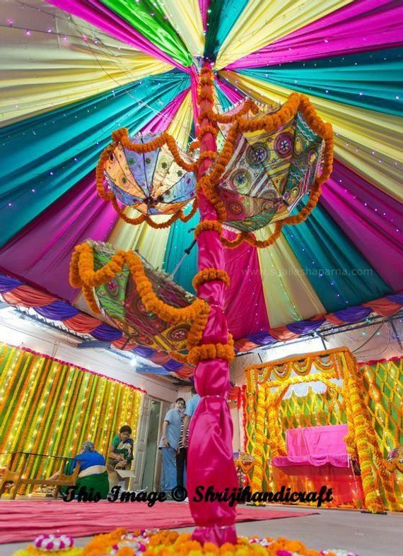 e6eb3208d0d4c 3 Pcs Lot Indian Wedding Umbrella Decoration Mirror Work Vintage Parasols  Handmade embroidery Elepha