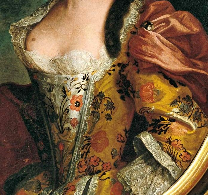 "detail from the portrait of a lady by Vittore Ghislandi ""Fra' Galgario"" (1655- 1743)"