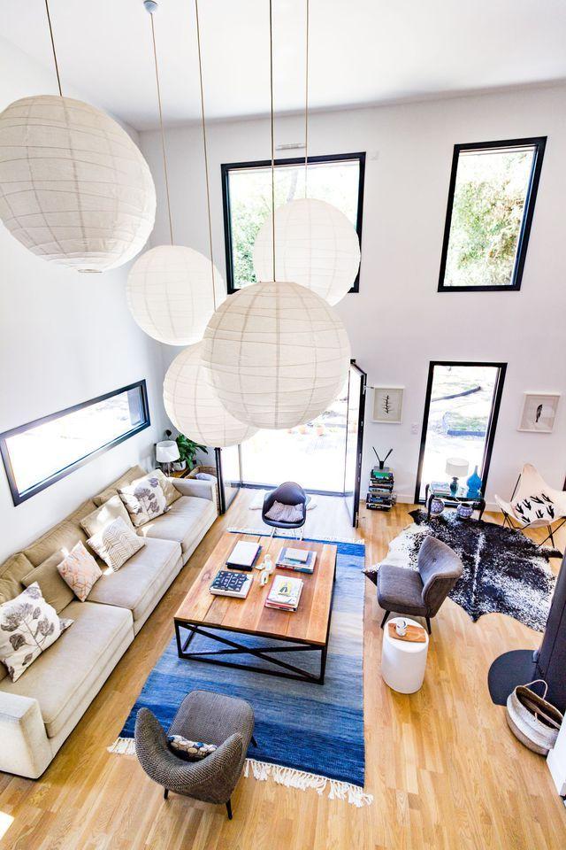 Spacieuse, conviviale et lumineuse, la pièce à vivre de cette maison d'archi fait rêver !
