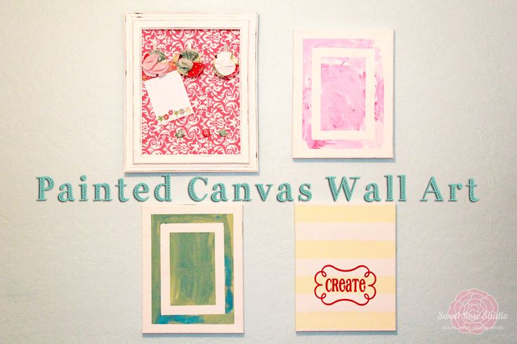 Painted Canvas Wall Art from Sweet Rose Studio #paint #decoart: Canvas Walls, Diy Crafts, Fun Paintings, Canvas Wall Art, Paintings Canvas, Art Ideas, Diy Wall, Crafts Diy, Crafty Ideas