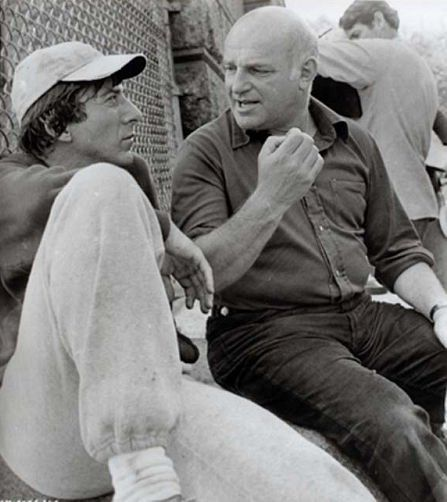 Dustin Hoffman and John Schlesinger on-set of Marathon Man (1976)