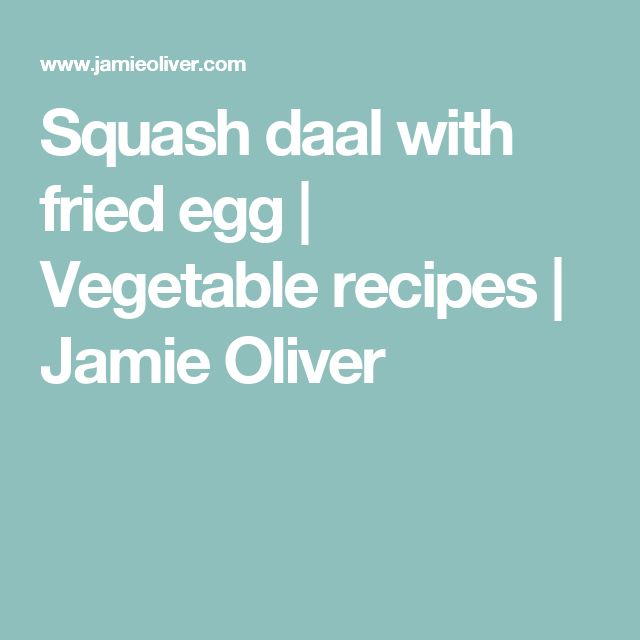 Squash daal with fried egg | Vegetable recipes | Jamie Oliver