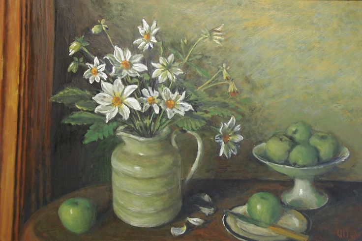 Dahlias and Apples Margaret Olley