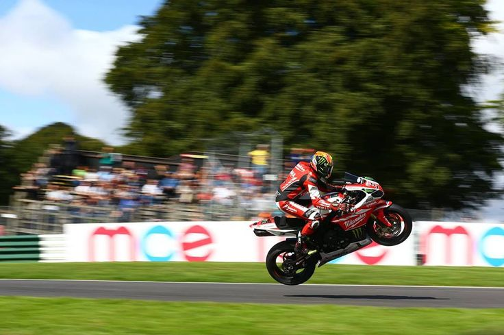 Josh Brookes in a little flight practice this morning at BSB Cadwell Park....